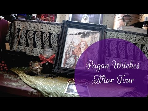 Mega Altar Tour || Working With The Morrigan || Shadows | Crystals | Bones | Tarot And More!