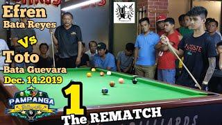 1/5 REMATCH EFREN BATA REYES VS TOTO BATA GUTIERREZ DEC,14,2019@University hills Lounge,Monumento