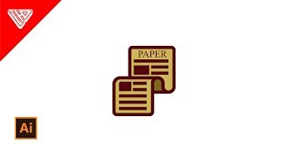 Learn To Draw Paper Icon In Adobe Illustrator