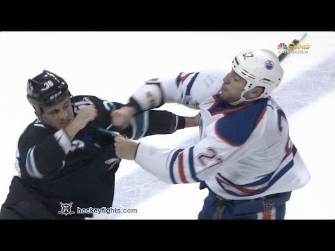 Milan Lucic vs Micheal Haley Apr 6, 2017
