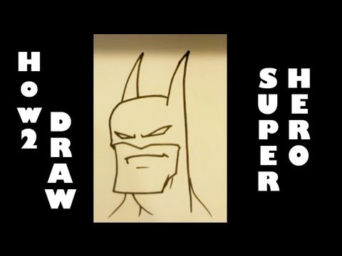 How To Draw A Super Hero Easy Drawings Youtube