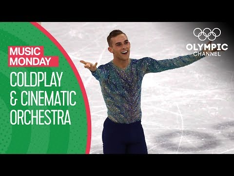 Adam Rippon performs to Coldplay & Cinematic Orchestra at PyeongChang 2018 | Music Monday