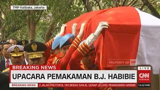 Pemakaman Presiden RI ke 3 BJ Habibie Dipimpin Presiden Jokowi