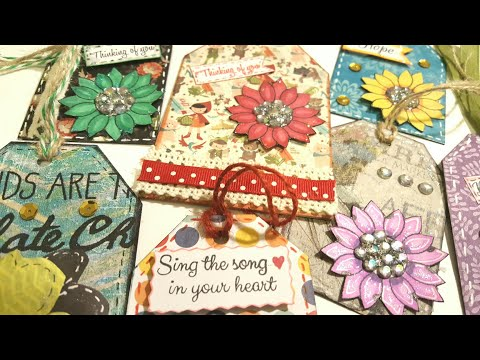 MAKING GIFT TAGS USING SCRAPS & EMBELLISHMENTS | DIY PAPER CRAFTS