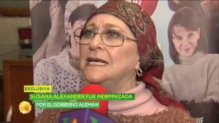 ¿Que el gobierno alemán indemnizó a Susana Alexander?