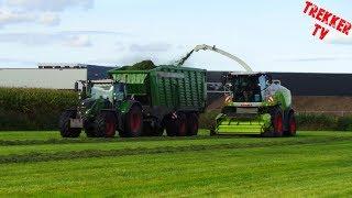 Gras hakselen   *NEW* Claas Jaguar 940   3x Fendt + kaweco   bmww agriservice   Nijkerkerveen