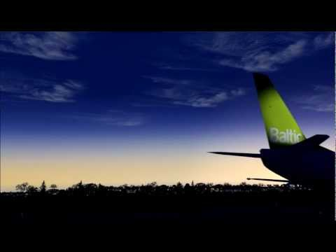 AirBaltic Boeing 737-500 Dawn Takeoff from Vienna [FS2004]