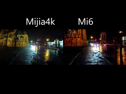 Mijia 4K mini VS Xiaomi Mi6 At night 30 FPS