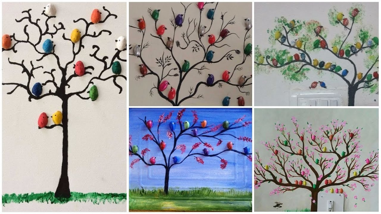 3f1233a3846 Pista shell bird for wall decoration - Simple Craft Ideas