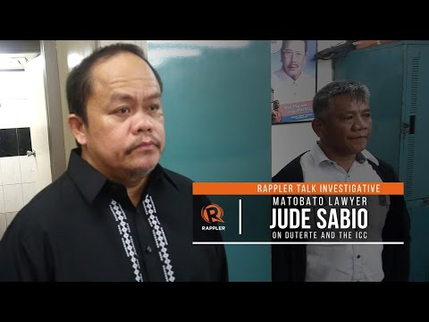 Rappler Talk Investigative: Matobato lawyer Jude Sabio on Duterte and the ICC
