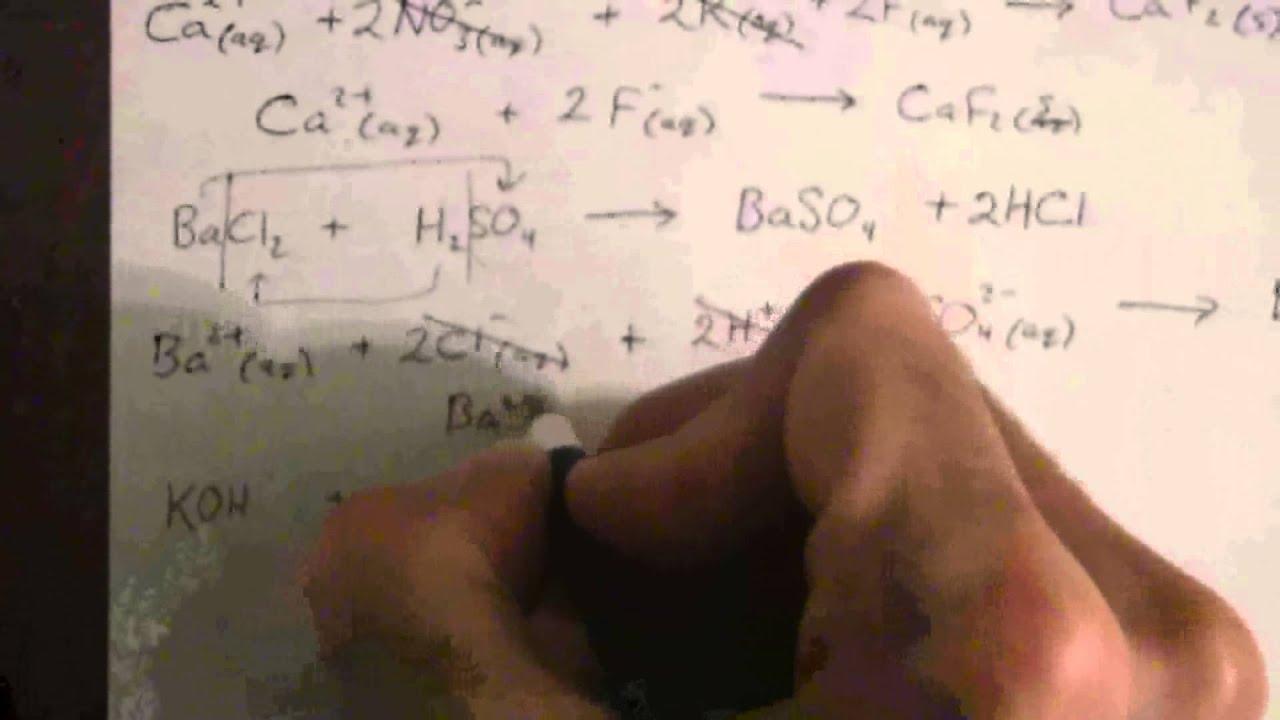 Practice Writing Net Ionic Equations YouTube – Writing Net Ionic Equations Worksheet