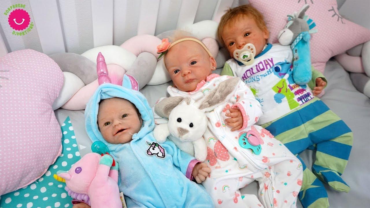 baratas para descuento 60d26 d01b9 Rutina de noche de mis bebés reborn Anuk, Lindea y Leo