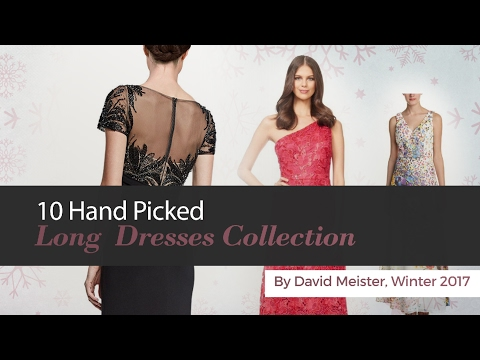 10 Hand Picked Long  Dresses Collection By David Meister, Winter 2017