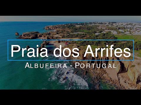 Praia dos Arrifes  - Praia de São Rafael - Drone Video 4K