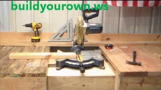 Ted's Workbench Designs For A Miter Saw