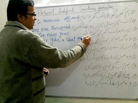 Present indefinite tense translation urdu to english exercises