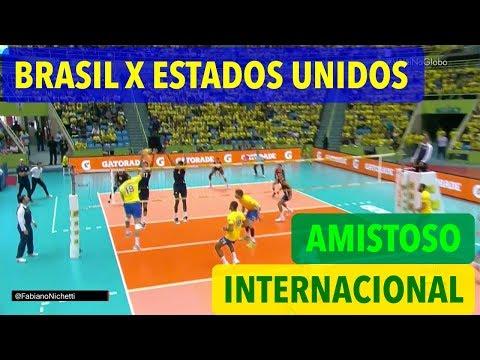 Brasil x Estados Unidos - Amistoso Internacional de Vôlei Masculino