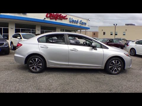 2015 Honda Civic White Plains, New Rochelle, Westchester, Scarsdale, Greenwich, NY U22965L