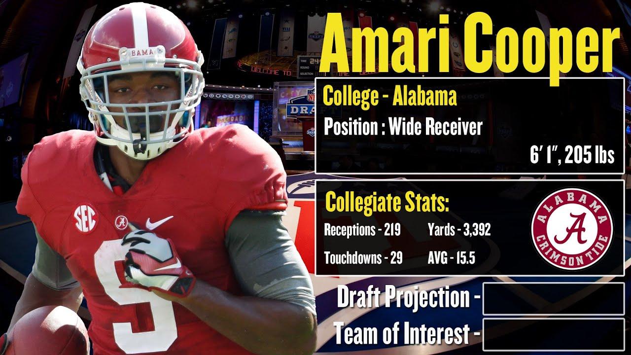 draft nfl amari cooper profile projection
