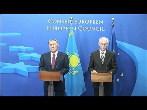 EU-Kazakhstan: Handshake & Press conference