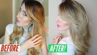 Tone Blonde Hair AT HOME   Madison Reed Toning Glaze Demo & Review   Sorrento Cool Vanilla Color