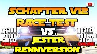 GTA 5 Online -  Schafter V12 Race Test VS. Jester Race Version! [10 Runden Bonus Auf Der Acht]