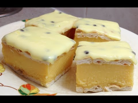 Vanilla Cake With Passionfruit Icing