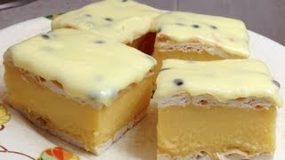 Vanilla Slice No Bake Cheaters Thermochef Recipe Cheekyricho