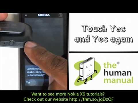 pairing with a bluetooth headset nokia x6 the human manual youtube rh youtube com nokia x6 manual pdf nokia x6-00 manual english
