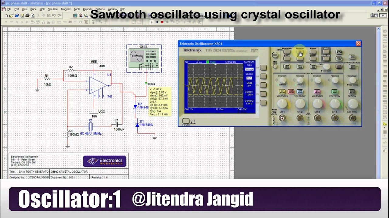 Sawtooth Wave Generation Using Simple Method Crystal Triangle Generator Schematic Oscillator Youtube