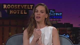 Hilary Swank and James Corden on Late Late Show - Chloe Arnold