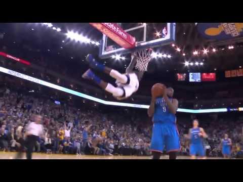 Marreese Speights Full-Court Pass   Thunder vs Warriors   March 3, 2016   NBA 2015-16 Season