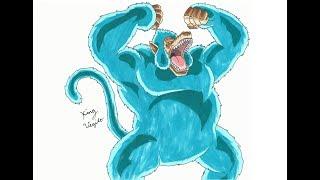 Drawing Goku Great Ape Blue