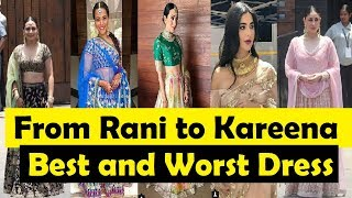Actresses Best and Worst Dress on Sonam Kapoor Wedding| Sonam