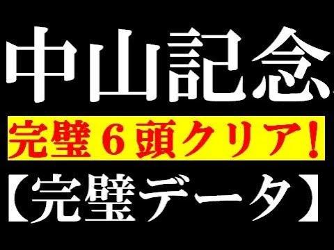 中山記念2019 完璧6頭クリア!【完璧データ】