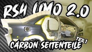 The RS4 Limo 2.0 - We shape the side panels! Baltic Carbon part 1 #7 | Philipp Kaess |