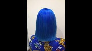 Как покрасить волосы в синий? / How to dye your hair blue?