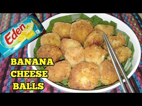 BANANA CHEESE BALLS/banana Balls With Cheese Filling