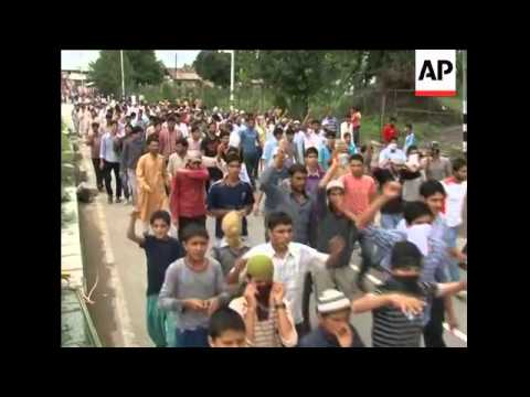 Protests continue in Indian-administered Kashmir