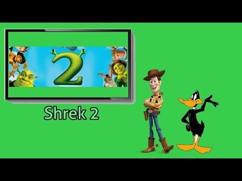 Woody and Daffy Duck watches Shrek 2