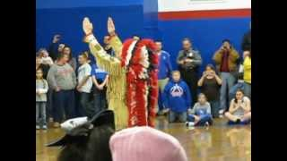 Chief Illiniwek in Hoopeston at Hoopeston Area High School