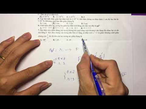 Vật Lý 11 - Chương 1 - Giải đề trắc nghiệm - P1
