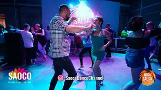 Talal Benlahsen and Elena Badzym Salsa Dancing at Riga Salsa Festival 2018, Saturday 11.08.2018