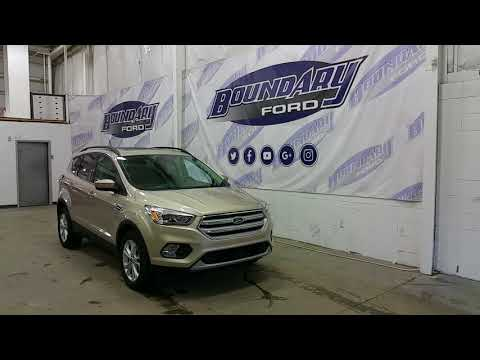 2018 Ford Escape SEL W/ 1.5L Ecoboost, Black Leather, White Gold Exterior Overview | Boundary Ford