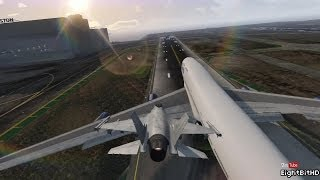 GTA 5 STUNT - LANDING AIRPLANE ON JET AIRPLANE #5