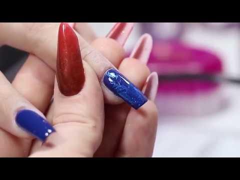Unghii Albastre Decorate Cu Folie De Transfer Brillbird Youtube