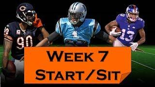 Fantasy Football 2018 Start 'em sit 'em Week 7