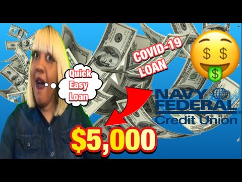 Navy Federal Credit Union Pandemic Loan 5 000 Deposited In Your Account In 2 Hours Youtube