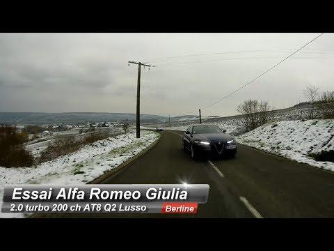 Essai Alfa Romeo Giulia 2.0 turbo 200 ch Lusso : Haute couture chez les berlines premium.