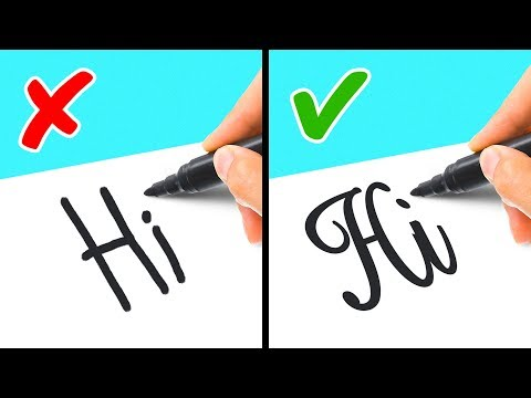 STUNNING TUTORIALS TO LEARN CALLIGRAPHY AND DRAWING